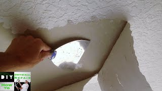 Knockdown textured ceiling bubbling while painting
