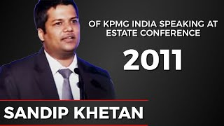 Sandip Khetan of KPMG India speaking at