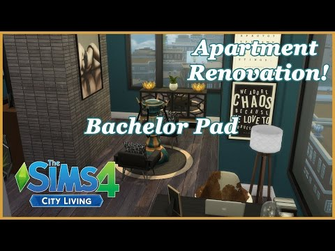 The Sims 4 - City Living - Bachelor Pad (Apartment Renovation!)