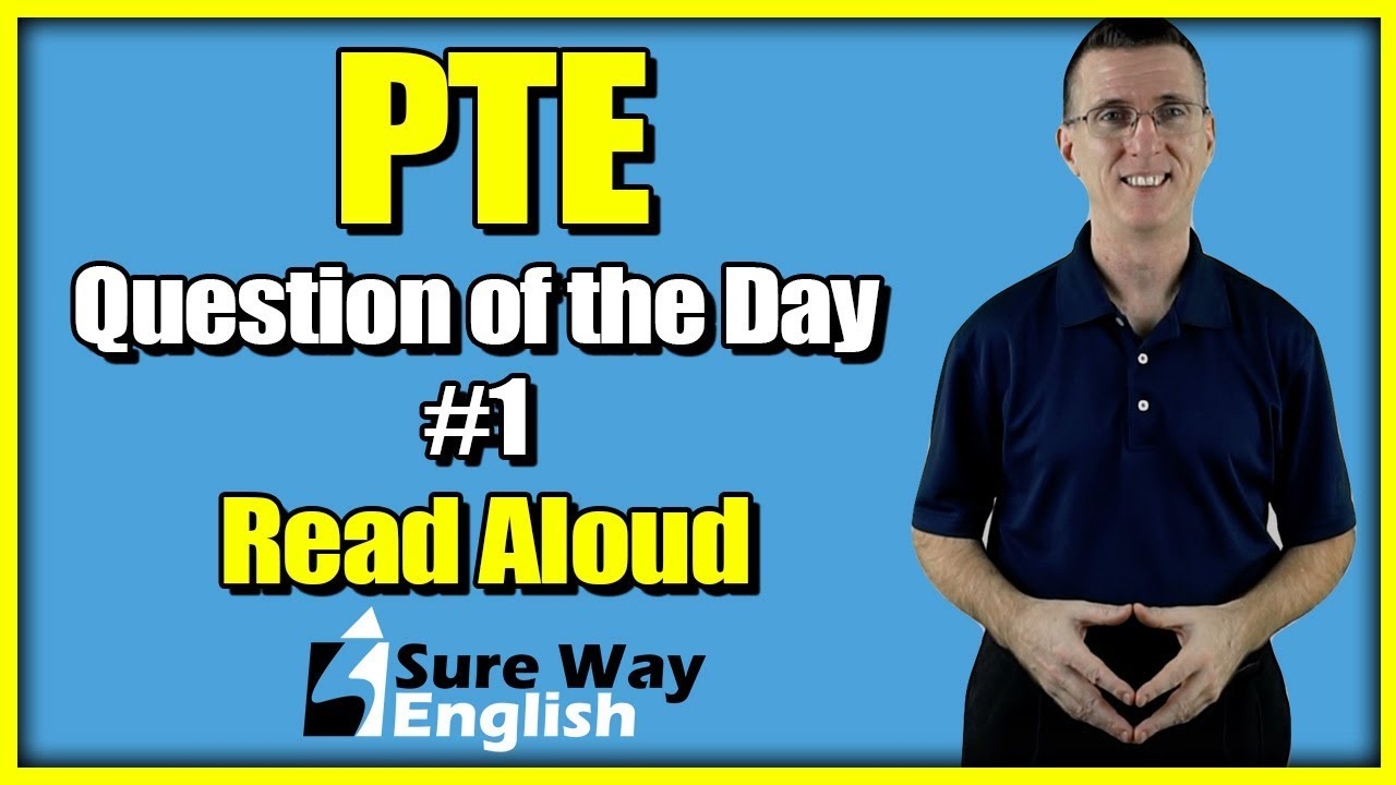 PTE Read Aloud Question of the Day | Based on previous real PTE Exams