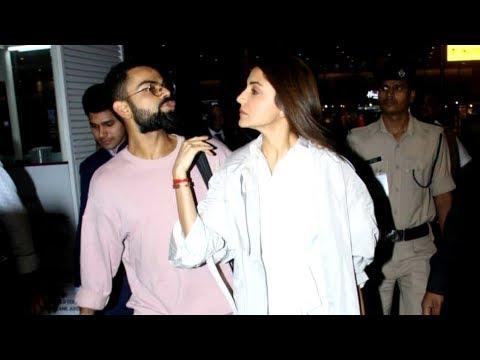 Virat Kohli With Wife Anushka Sharma SPOTTED At Mumbai Airport