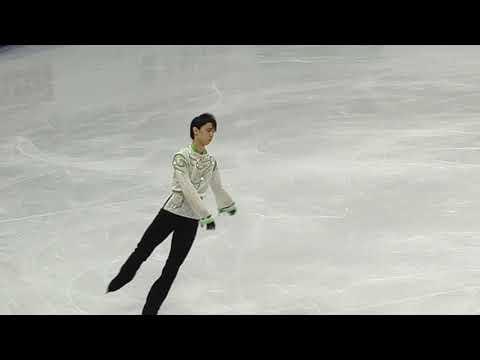 4CC Men FP 6-min Warm-UP Yuzuru Hanyu fancam