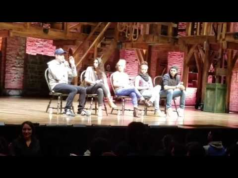 Hamilton Cast Interview at the Richard Rodgers Theater