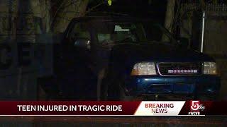Teen seriously injured in wild ride
