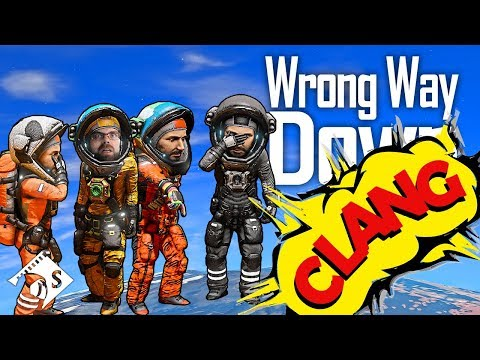 Wrong Way Down - Giant Bird Eating Spiders (Space Engineers Survival)