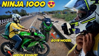 This Bike Is For Sale😍- Riding 2019 Ninja 1000 With Arrow Exhaust Full System🔥| Chasing Bikes | EP 3