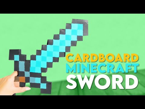 How To Make A Cardboard Minecraft Sword - DIY