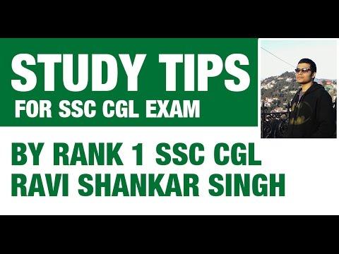 Rank 1 SSC CGL Ravi Shankar - Study Tips for SSC CGL 2017