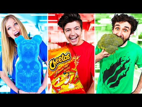 EXTREME One Color Food Challenge! (24 Hours)
