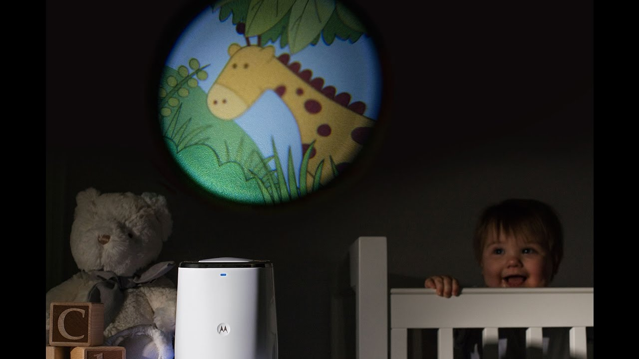 Motorola Mbp 85 Smart Nursery Dream Machine Sound And Light Projector With Audio Monitoring