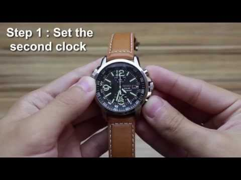 How to set the alarm on Seiko SSC081-SSC093-SSC079 (v172)