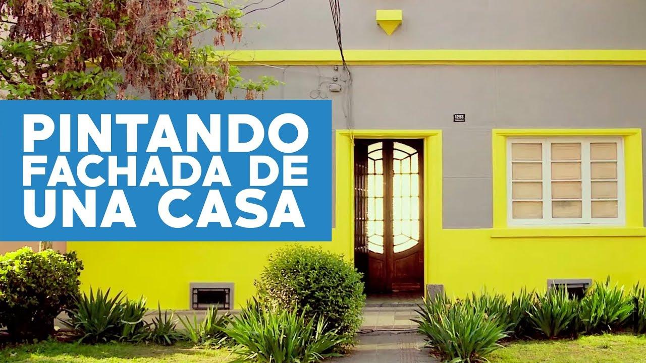 C mo pintar la fachada de una casa youtube - Como pintar puertas de sapeli ...