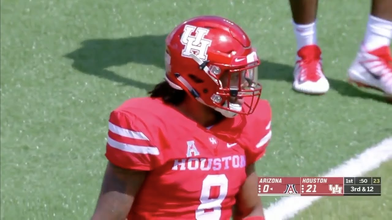 new product eef90 3bc27 Emeke Egbule (Houston LB #8) Vs. Arizona 2018