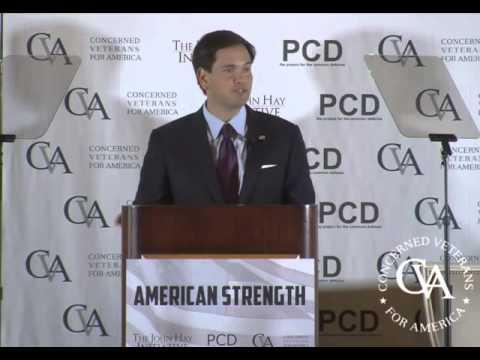 Rubio Delivers Speech On Rebuilding American Defense