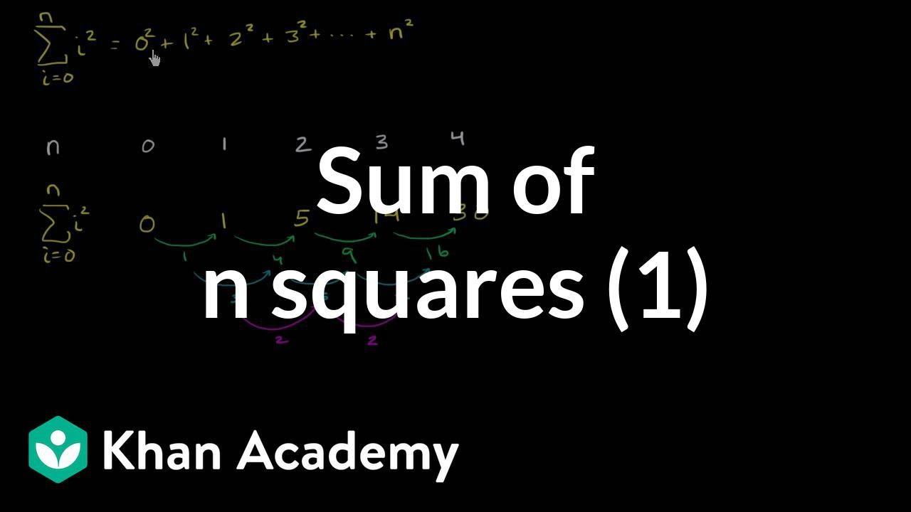 Sum of n squares (part 1) (video) | Khan Academy