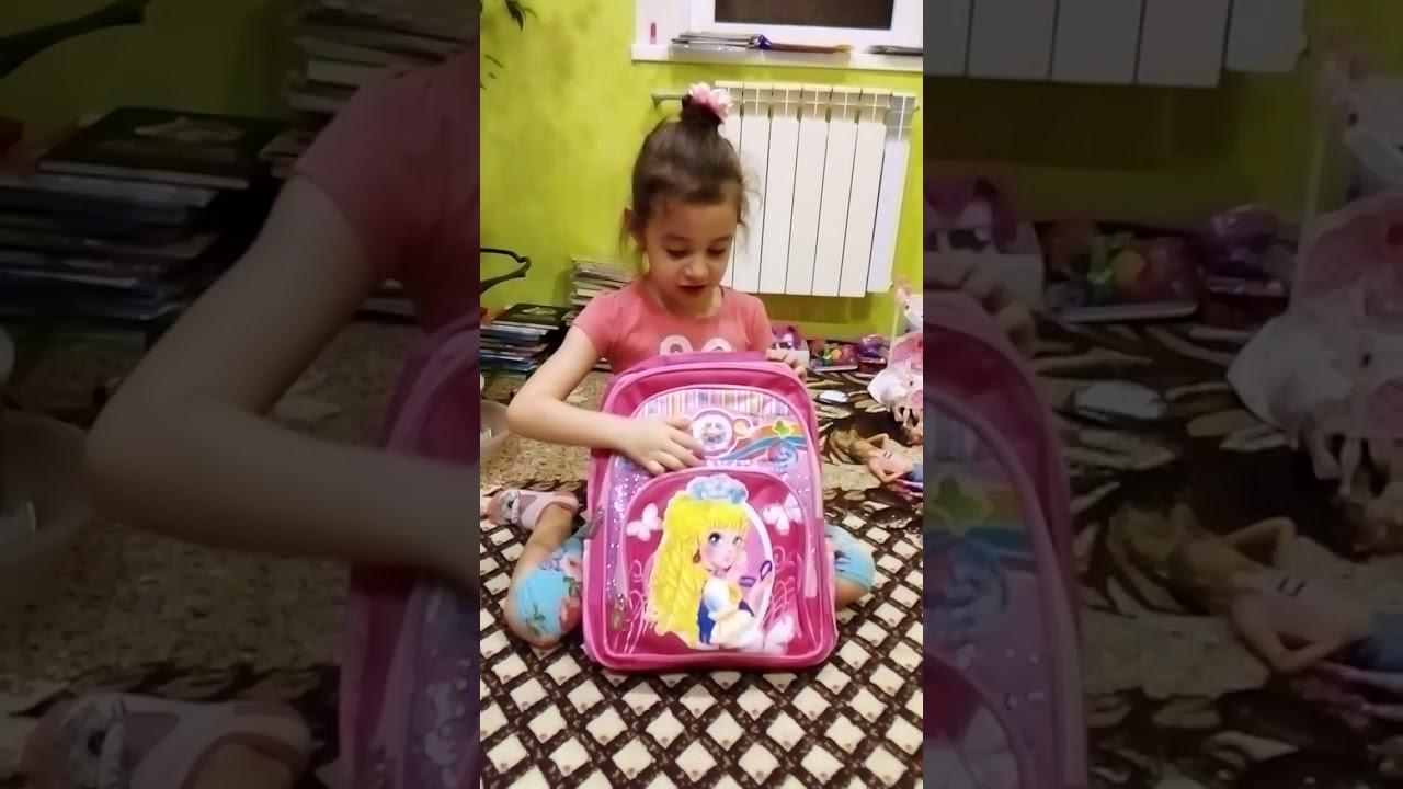 Анютын портфель и кукла лол с настоящими волосами - YouTube
