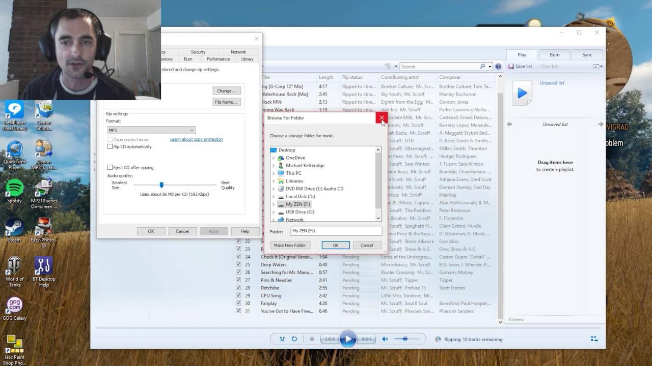 Using The Creative Zen X Fi 2 On Windows 88110 Youtube