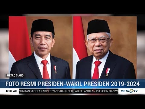 Setneg Rilis Foto Resmi Presiden Dan Wakil Presiden 2019 2024 Youtube