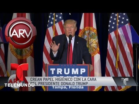 Crean papel higiénico con la cara del presidente Trump | Al Rojo Vivo | Telemundo
