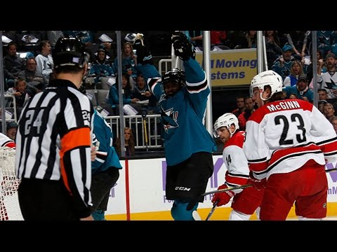 Joel Ward tallies hat trick vs Hurricanes