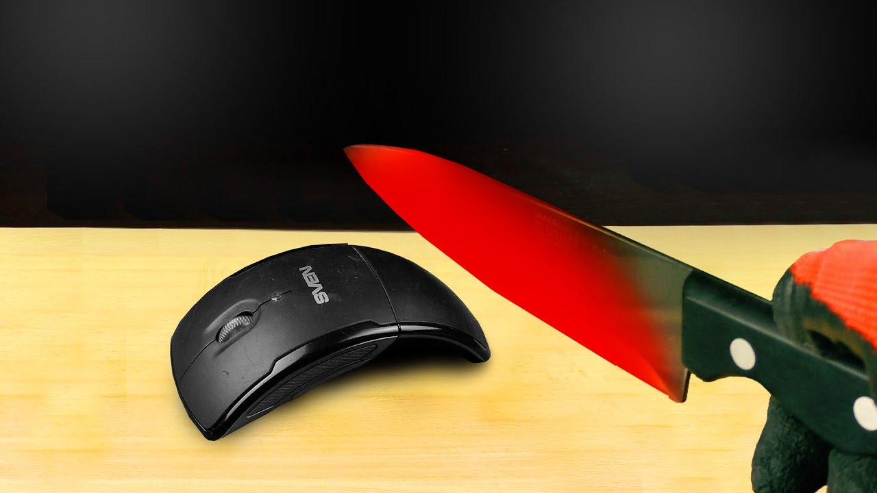 EXPERIMENT Glowing 1000 degree KNIFE VS MOUSE