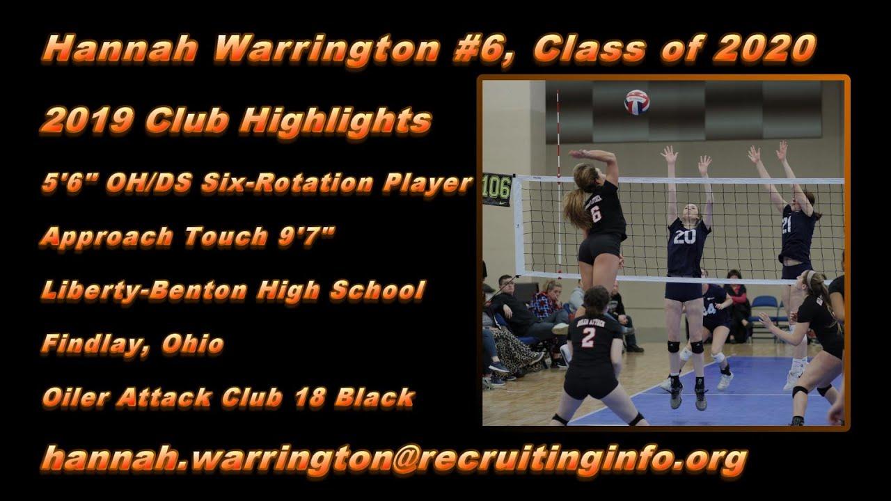 Hannah Warrington S Women S Volleyball Recruiting Profile