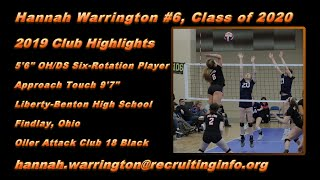 Hannah Warrington #6 2019 Club Volleyball Highlights