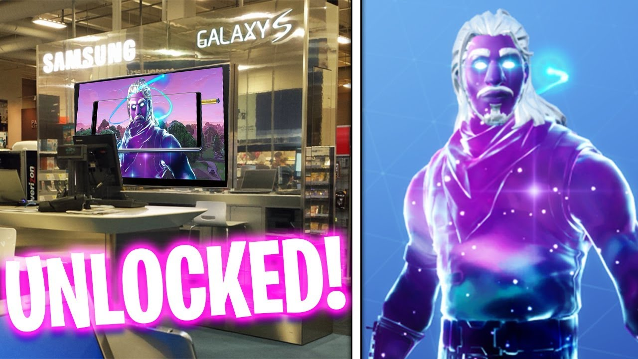 I unlocked the galaxy skin for free at best buy fortnite galaxy skin youtube - Fortnite galaxy skin free ...
