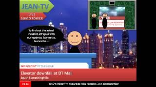 (Animierte) DT Mall, Somethingville: Säule Traktion Aufzug (Sturz)