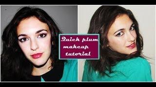 Quick plum makeup tutorial Thumbnail
