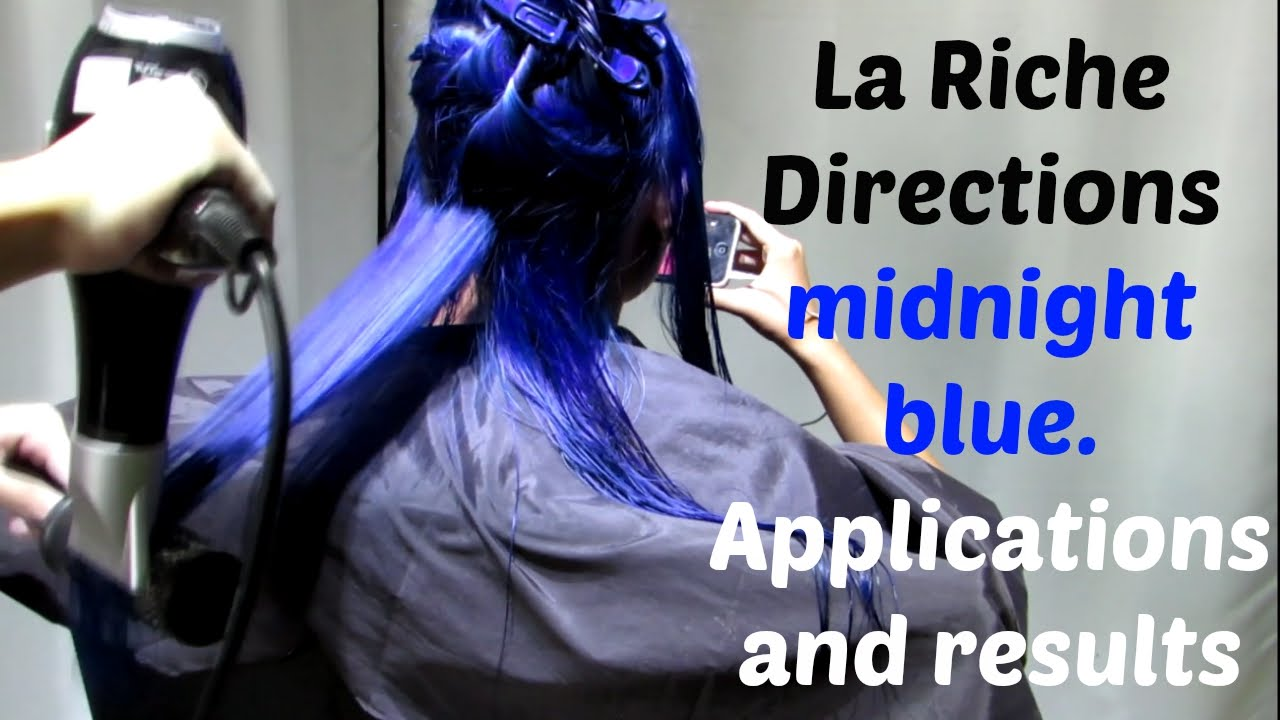 how to apply la riche directions midnight blue