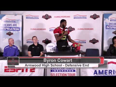 Byron Cowart - American Family Insurance Under Armour All-America Football Jersey Presentation