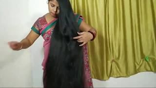 Indian Rapunzel With Her Super Thick Cobra Braid Ritika Live