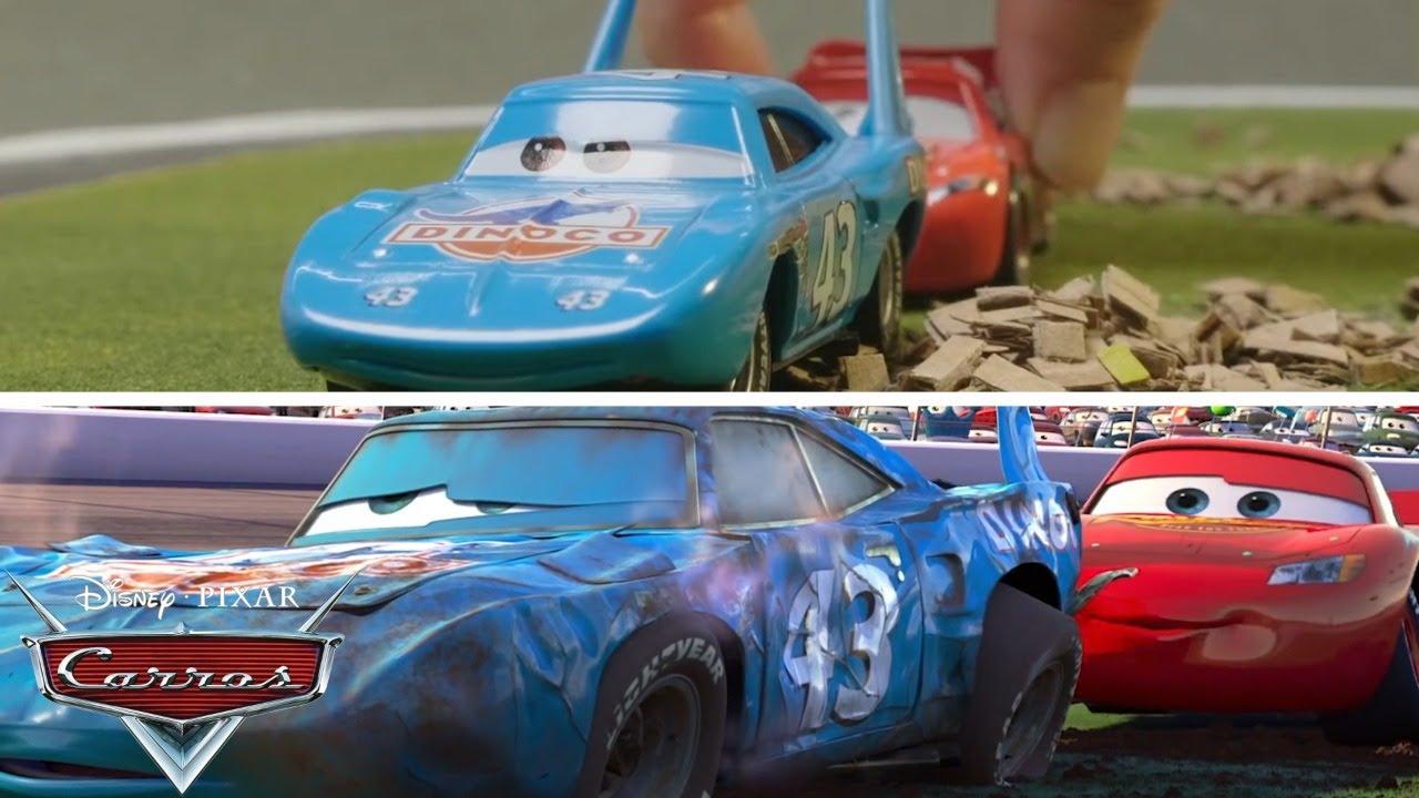 McQueen ayuda a El Rey - Escena de la película  |  Pixar Cars