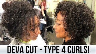 Deva Cut on Type 4 Curls! Curls One On One Salon | BiancaReneeToday