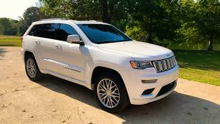 2018 JEEP GRAND CHEROKEE SUMMIT LAGUANA LEATHER SUNROOF 4X4 PEARL WHITE USED FOR SALE SUNSETMOTORS