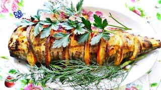 Скумбрия, запеченная в духовке (рецепт без фольги)! Вкусная рыбка!