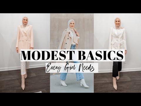 Modest Basic Essentials Every Girl Needs! | Modest Capsule Wardrobe