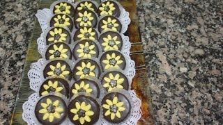 حلوى نوار الشمس باللوز والشكلاط cookies sunflowers almonds