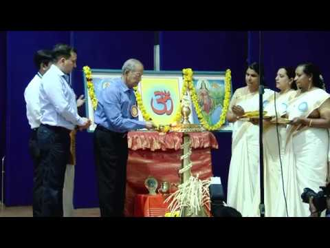lighting the lamp-CBSE Teachers' Conference on ESD Kochi May 2018