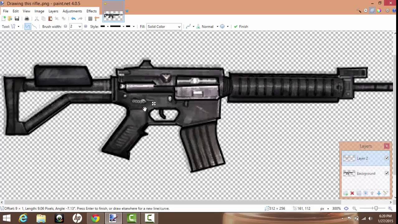 How To  Draw A Gun With Paint