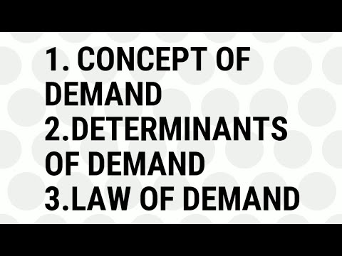 #1 Understand Demand concept, Determinants of Demand, Law