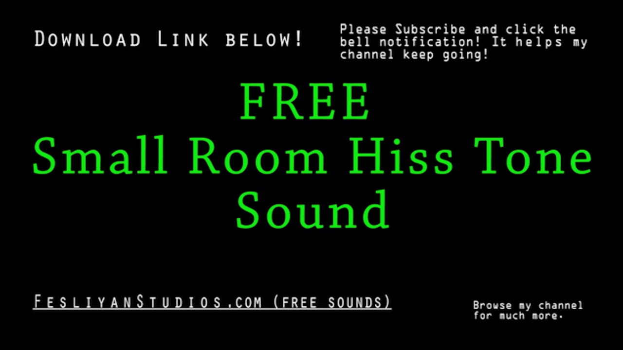 room tone free sound effect various versions youtube. Black Bedroom Furniture Sets. Home Design Ideas