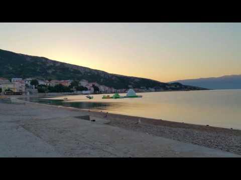 Baska Krk Kroatien/Croatia Sonnenaufgang/Sunrise Zeitraffer/Timelapse