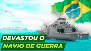 Marinha do Brasil DEVASTA navio de guerra em operação - OPERAÇÃO MISSILEX 2021 (Felipe Dideus)