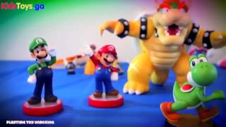 Nintendo YOSHI AMiiBO Unboxing Review WII U Game Super Mario Party 10 – Song For Kids