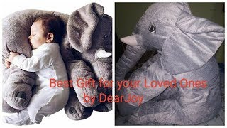 Review Best Gift Toy For Your Kids Baby Elephant Pillow For Babies By DearJoy Avialable Online