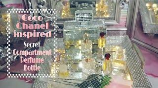 Diy#DollarTree#CocoChanel#Glam#Mirror#PerfumeBottle#Secret Compartment#Decoraciones