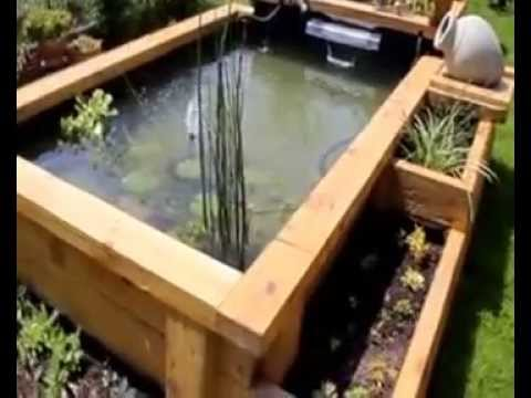 Vid o du bassin fabrication maison youtube for Bassin poissons exterieur