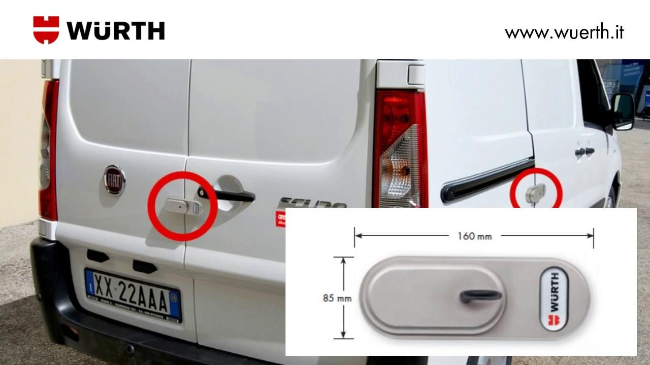 Serratura antifurto per furgoni vanlock w rth youtube for Allestimento furgoni wurth